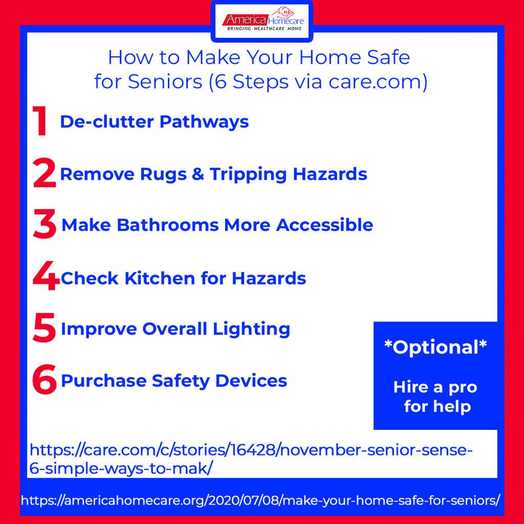 6 steps to senior safety