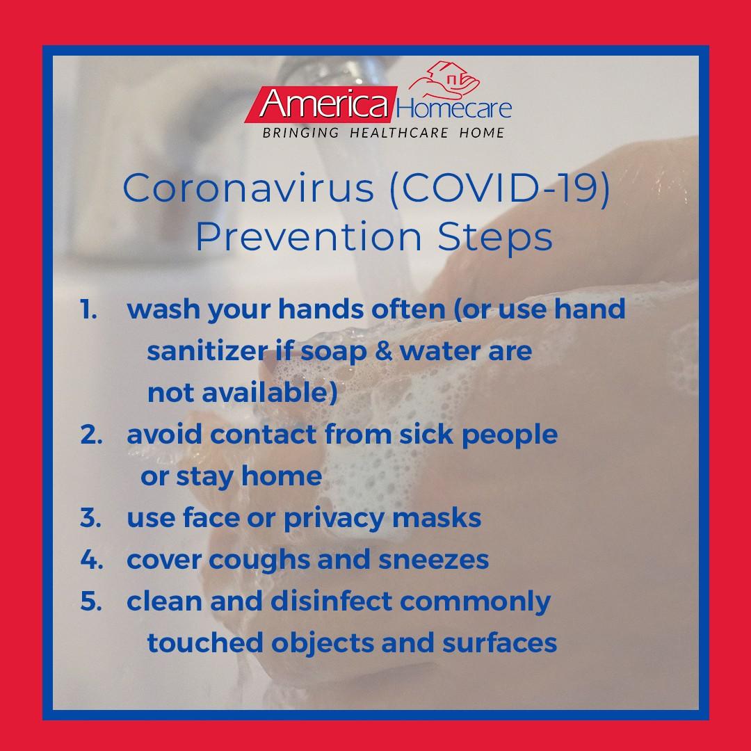 Coronavirus Infographics | America Homecare