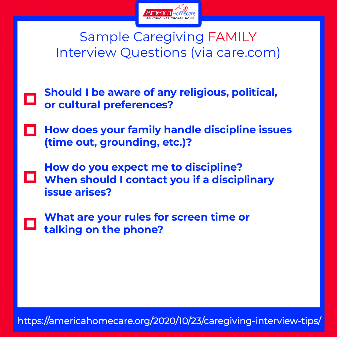 sample caregiving family questions