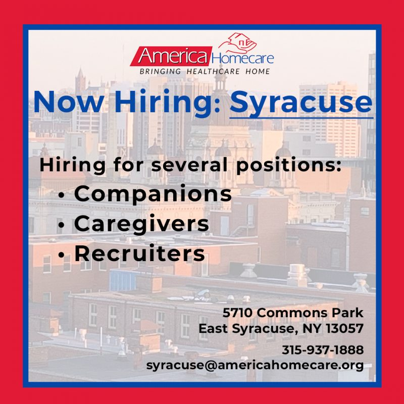 syracuse cargiving jobs
